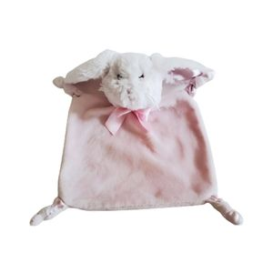 Baby Security Blanket Bunny Rabbit Plush Pink